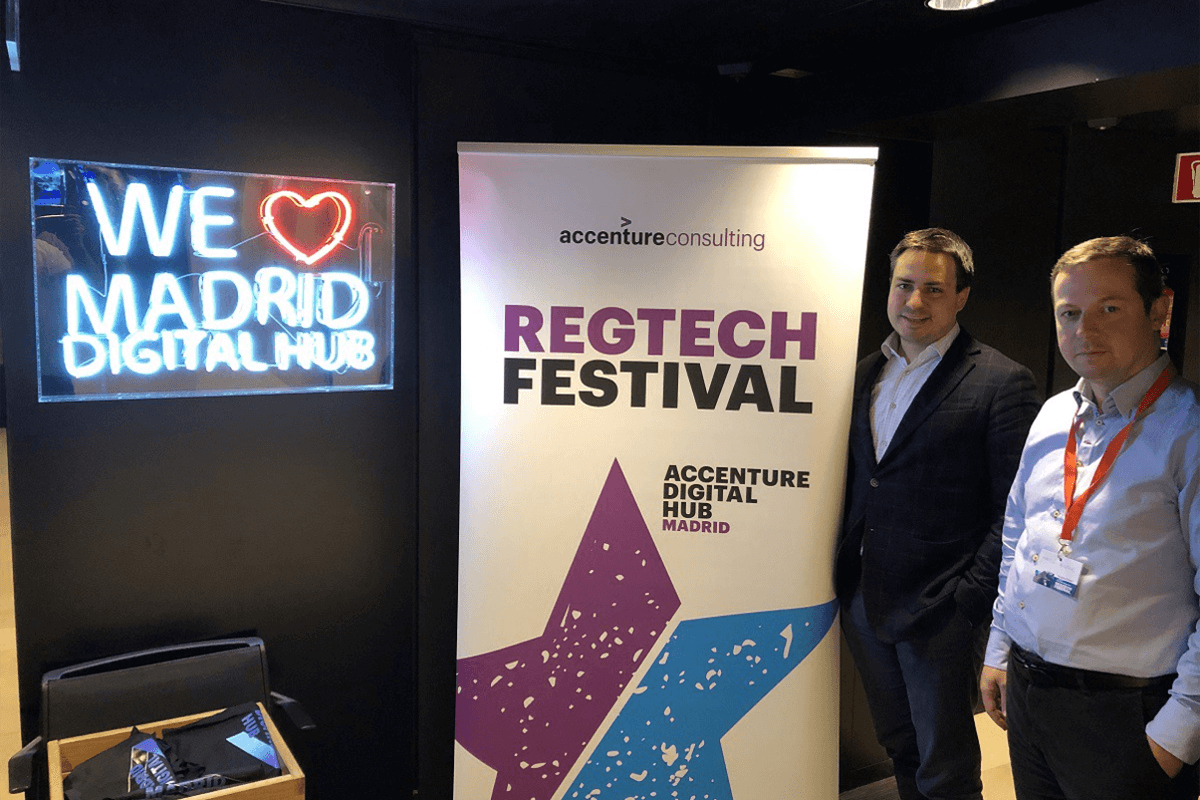 Blinking attended Accenture's Regtech festival